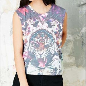 Urban Outfitters Smithson Acid Tiger Tank